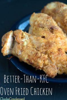 Better-than-KFC Oven Fried Chicken Recipe