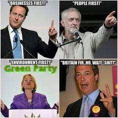 Tories, Labour, Greens, Ukip, Britain First. British Memes, Uk Politics, Labour Party, Political Quotes, Houses Of Parliament, Green Party, Political Party, The Marketing, Britain