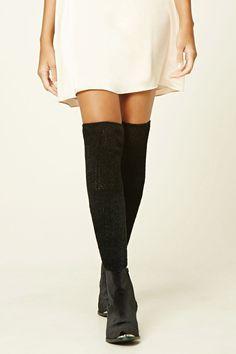 Fuzzy Knit Over-The-Knee Socks   Forever 21 - 2000196936