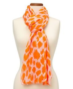 """with a fun name like """"citrus soda"""" how can you not like this scarf?  this shade of peach/orange is perfect for this season :)"""
