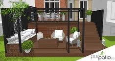 Getting The Most Out Of A Deck With Patio Designs – Pool Landscape Ideas Cool Deck, Diy Deck, Backyard Patio Designs, Backyard Projects, Patio Decks, Building A Deck, Deck Plans, Backyard Landscaping, Geometric Patterns