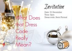 What Does that Dress Code Really Mean - got an invitation and don't know what it means? This is the dress code guide for you