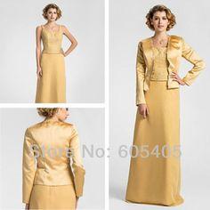 gold mother of bride dresses | Wholesale-2014 Elegant Mother of the Bride Dresses in Gold with ...