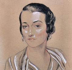 1920s portrait drawing