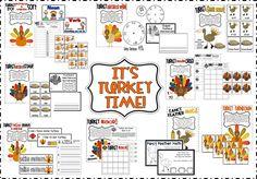 Turkey Time Math & Literacy Centers