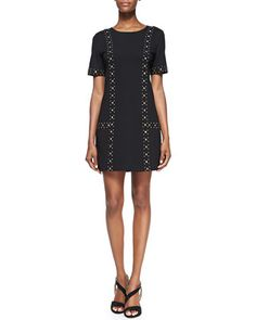 Naomi+Studded+Ponte+Dress+at+CUSP.