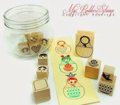 Matryoshka stamps