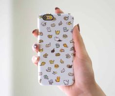 Neko Atsume Cat Funny Case Cute Case Cover Cat lover Gift Case for iPhone 6 iPhone 6S iPhone 6 Plus iPhone 5 5S 5C Galaxy S5 S6 Edge Note 5 by RealDesignRocks on Etsy https://www.etsy.com/listing/267901589/neko-atsume-cat-funny-case-cute-case