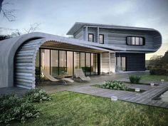 S-House by KO+KO architects in Ukraine Modern Residential Architecture, Architecture Résidentielle, Sustainable Architecture, Amazing Architecture, Wood House Design, Modern House Design, Home Design, Interior Design, Interior Ideas