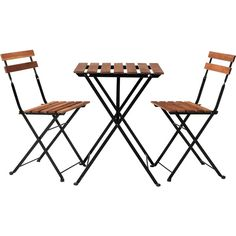 IKEA TÄRNÖ Bistro set, acacia, steel ($50) ❤ liked on Polyvore featuring home, outdoors, patio furniture, outdoor patio sets, furniture, ikea, table, outdoor, steel folding chairs and outdoor bistro set