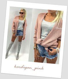 Sweterek kardigan pink  lilonka