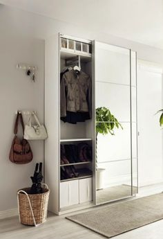 Hmm Nice PAX Wardrobes Arent Just For The Bedroom They Also - Porte placard coulissante avec porte entree maison