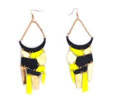 Vip Women's Mosaic Neon Hook Earrings
