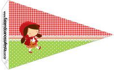 Bandeirinha Sanduiche 2 Chapeuzinho Vermelho