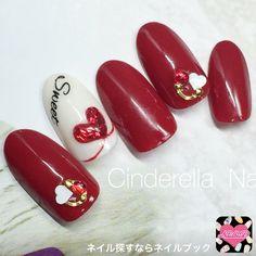 Valentine's Day Nail Designs, Simple Nail Designs, Nail Polish Designs, Beautiful Nail Designs, Fabulous Nails, Gorgeous Nails, Love Nails, Red Nails, Valentine Nail Art