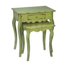 2 Piece Verde Nesting Table Set