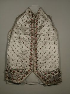 Waistcoat  National Trust Inventory Number 1349026 Date1780 - 1790 CollectionSnowshill Wade Costume Collection, Gloucestershire (Accredited Museum)