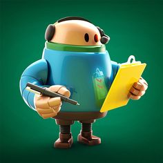 Behance :: #Botober ROBOTS by Steve Talkowski
