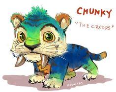 kadeart:  doodle Chunky - The Croods: