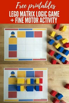 Kids Activities At Home, Lego Activities, Math For Kids, Kindergarten Activities, Preschool Learning, Early Learning, Fun Learning, Lego Challenge, Lego Club