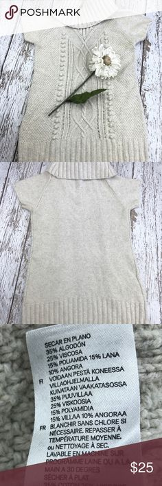 """SALE H&M Cream Cowl Neck Sweater Dress Gorgeous  H&M Cream Cowl Neck Sweater Dress 31"""" from the top of the shoulder to the bottom 19"""" from armpit to armpit Perfect with leggings and boots H&M Dresses"""
