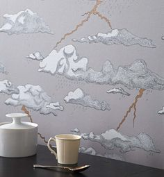 I'm obsessed with Abigail Edwards' Storm Cloud Wallpaper #wallpaper #storm #clouds