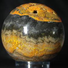 Bumblebee Jasper Sphere, 745 gram @ RocknSpheres.com