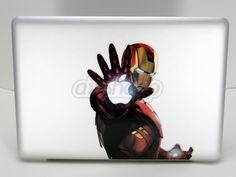 IronMan Iron Man Decals Macbook Stickers Macbook Pro Macbook Air Skin | airshopp - Techcraft on ArtFire