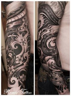 Image result for japanese black dragon sleeve