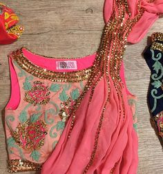 pink, print, and gold...these are a few of my favorite things embroidered blouse