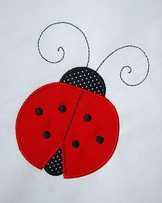 INSTANT DOWNLOAD, Machine Applique Design, Ladybug