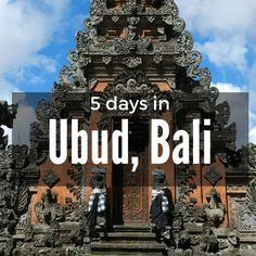 We fell in love with Ubud, Bali in August 2012 when we spent 5 days there.  Yes, it is pretty touristy, but for good reasons! With all the art, culture  and spirituality that surrounds you, you can't help but fall in love. Ubud  is known at the cultural centre of Bali. Surrounded by rice fields and full  of warm people, you won't regret a visit. We love it so much that I  returned in 2014 with my mom who immediately fell in love just as I did.   This is our recommendation for 5 days in Ubud…