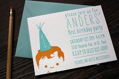 How cute is this birthday invitation!?
