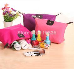 fashion girls cute zipper Cosmetic bag large capacity nylon waterproof multi color storage bag 8color from Dreamland Fashion http://www.aliexpress.com/store/115836