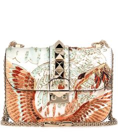 VALENTINO Lock Small embroidered leather shoulder bag.  valentino  bags  shoulder  bags   fb2e56ef1b119