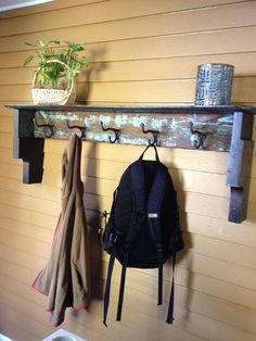 Coat Hook Shelf Repurposed Old Wood Distressed by inorder2organize, $149.00
