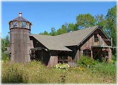 Rare Wooden Farm Silo and barn