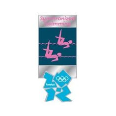 Price: $8.95 - London 2012 Olympics Synchronized Swimming Pictogram Pin - TO ORDER, CLICK ON PHOTO
