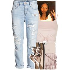 A fashion look from March 2016 featuring pink crop top, ripped jeans and Birkenstock. Browse and shop related looks. Dope Fashion, Fashion Looks, Womens Fashion, Low Rise Boyfriend Jeans, Birkenstock Outfit, Black Apple, Pink Crop Top, Dope Outfits, All About Fashion