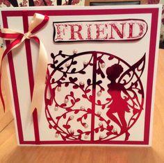 Handmade card using the tonic fairy dies.