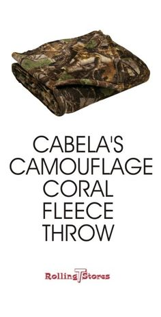 Wrap up in this wonderfully soft Cabela fleece throw to enjoy the sports games on t.v. or roasting marshmallows around the fire pit.