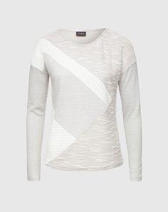 VILA Patchwork-Pullover ´Skyhigh´ Damen