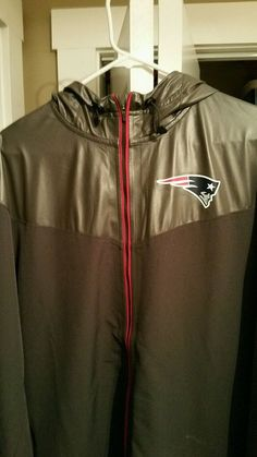 Men's New England Patriots Antigua Navy Flight Full Zip Track Jacket