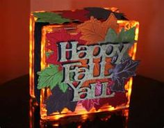 Fall glass block