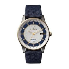 Triwa Unisex NIST104 Duke Niben Classic Watch with Navy / Navy Canvas and Organic Leather Strap >>> Details can be found by clicking on the image.