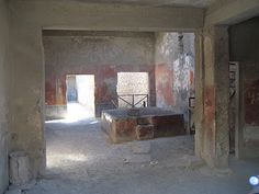 Interior of some of the Houses @  Pompeii