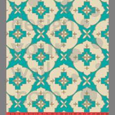 anna's room - bodrum eyes gold/turquoise floral tile by princes & crows