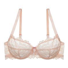 Blush Sweetest Sin Demi Bra (135 BRL) ❤ liked on Polyvore featuring intimates, bras, underwear, lingerie bras, lace bra, lace demi bra, strappy bra and lace lingerie