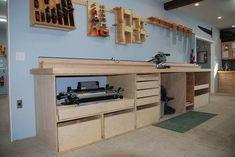 Shop side under cabinet layout