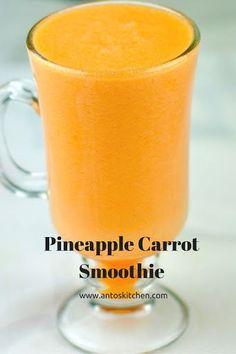 Pineapple Smoothie. #antoskitchen #pineapple #smoothie #easy #healthy